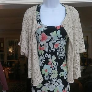 Lucky brand ladies loose cable Cardigan